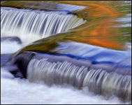 Z-shaped rapids near Bond Falls in Autum, Michigan
