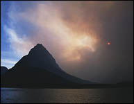Trapper Creek Forest Fire from Grinnell Point, Glacier National Park, MT