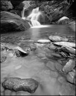 Rapids below Grotto Falls, Roaring Fork, Great Smoky Mountains National Park, Tennessee