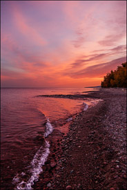 Sunrise near Presque Isle, Upper Michigan