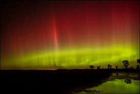 Northern Lights near Oshkosh, Wisconsin