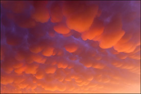 Mamatus clouds, Oshkosh, Wisconsin