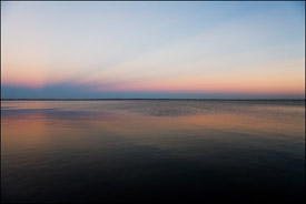 Sunset over Lake Winnebago, Oshkosh, Wisconsin