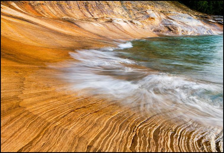 Sandstone Patterns Near Miner S Beach Pictured Rocks