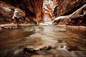 The Narrows in Winter, Zion National Park, Utah